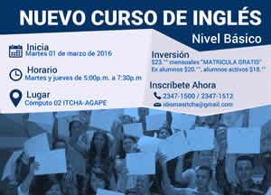 Inicia un Nuevo Curso de Inglés