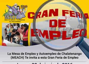 Feria de Empleo en Chalatenango