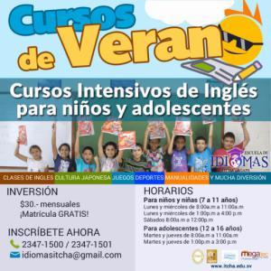 Nuevos Cursos de Verano, Escuela de Idiomas ITCHA-AGAPE