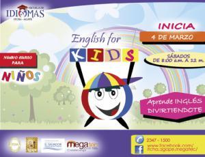 Nuevo Curso de Inglés para Niños, Escuela de Idiomas ITCHA-AGAPE