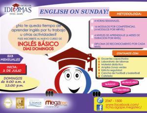 Curso de Inglés los Domingos!