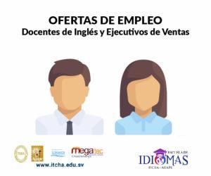 Buscamos docentes de Inglés y Ejecutivos de Ventas