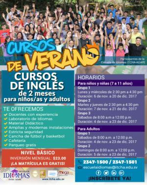 Cursos de Verano - Inglés - Escuela de Idiomas ITCHA-AGAPE