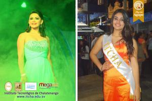 Belleza Académica de ITCHA-AGAPE en las Fiestas de Chalatenango