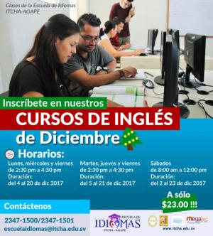 Cursos de Inglés para Diciembre 2017