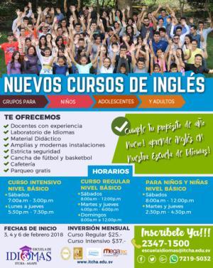 Nuevos cursos de Inglés en febrero!