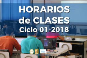 Horarios de Clases Ciclo 01-2018