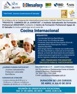 Curso de Cocina Internacional 2018