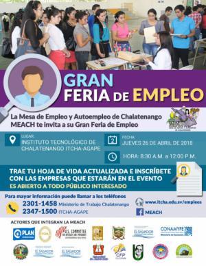 I Feria de Empleo Chalatenango 2018 - MEACH
