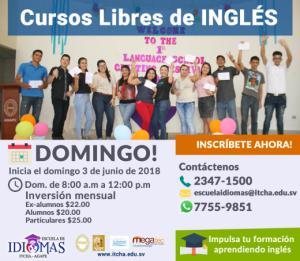 Curso de Inglés en horario de domingo!