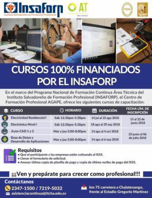 Cursos del INSAFORP Área Técnica en ITCHA-AGAPE