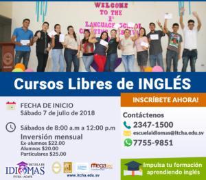 Nuevo curso de Inglés en julio 2018