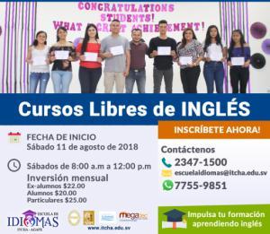 Nuevo curso de Inglés en agosto 2018
