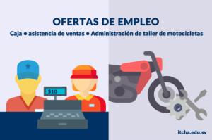 Oferta de Empleo -área de caja, ventas y administración de taller