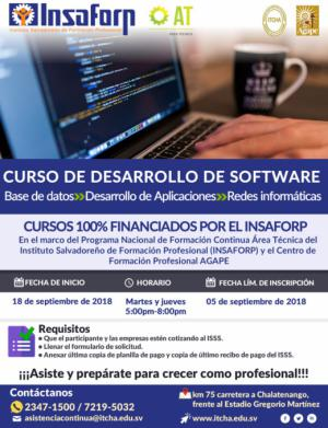 Curso de Desarrollo de Software - Área Técnica INSAFORP