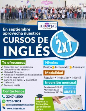 En septiembre nuestros Cursos de Inglés están al 2x1!