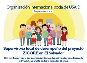 Organización socia de USAID requiere supervisor/a Proyecto ZICORE