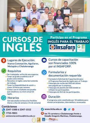 Aprende Inglés con el Programa Inglés para El Trabajo de INSAFORP