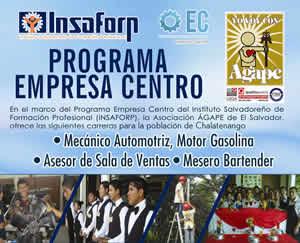 Carreras del Programa Empresa Centro del INSAFORP