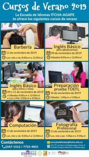 Cursos de Verano 2019 - Escuela de Idiomas ITCHA-AGAPE