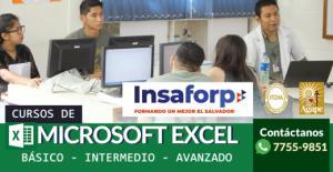 Cursos de Microsoft Excel - Área Técnica INSAFORP