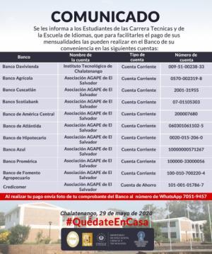 Sobre el pago de colegiaturas durante la Cuarentena por COVID-19