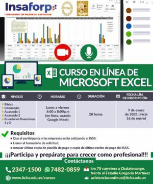Curso de Excel en Línea para empleados