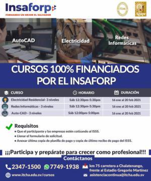 Cursos del INSAFORP para empleados - Área Técnica