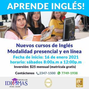 Comienza bien el año aprendiendo Inglés!