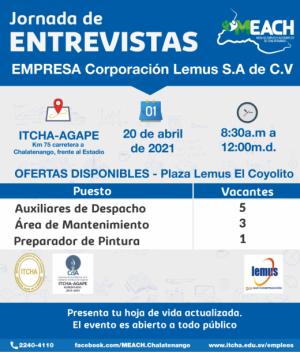 Jornada de Entrevistas - Corporación Lemus