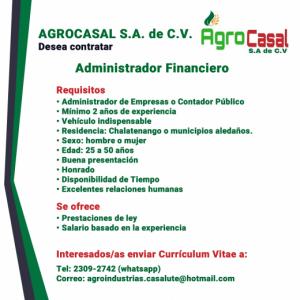 Ofertas de Empleo en Agrocasal