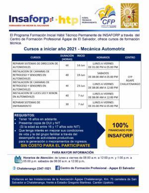 Nuevos cursos INSAFORP en junio 2021