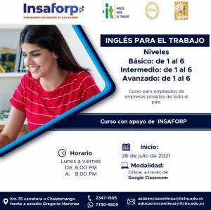 Cursos de Inglés para El Trabajo del INSAFORP