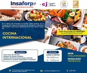 Curso de Cocina Internacional - INSAFORP - CJ