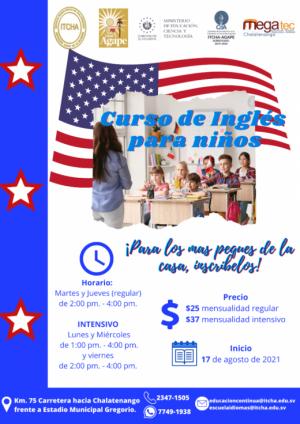 Curso de Inglés para niños, Escuela de Idiomas ITCHA-AGAPE