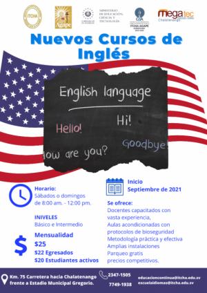 Nuevos cursos de Inglés en septiembre 2021