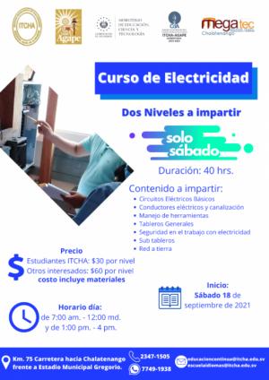 Curso de Electricidad, septiembre 2021