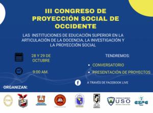 III Congreso de Proyección Social de Occidente