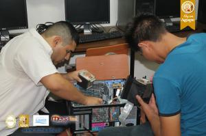 Mantenimiento a Cómputos en Centros Escolares de Chalatenango