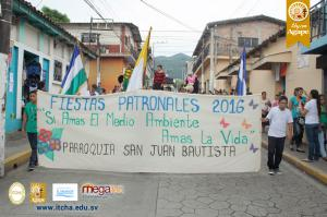 Desfile del Correo en las Fiestas Patronales de Chalatenango 2016