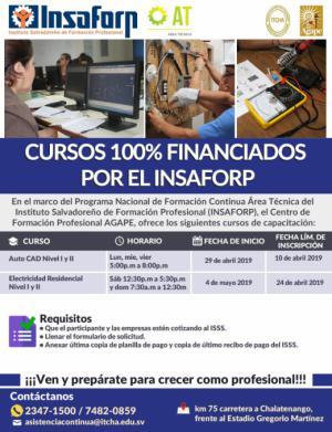 Cursos del INSAFORP -Área Técnica- ITCHA-AGAPE 2019