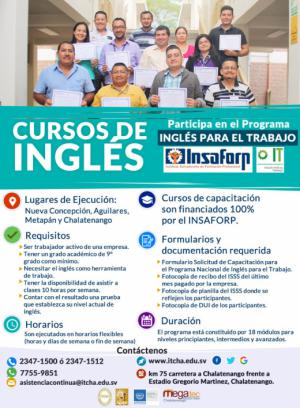 Nuevos cursos del Programa Inglés para el Trabajo en mayo 2019